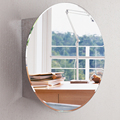 Whole Sale Round Shape Stainless Steel Mirror Cabinet with Store Shelf 7021