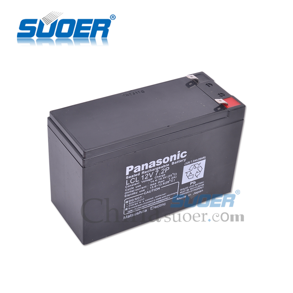 Suoer rechargeable 12V 7AH solar energy storage battery