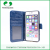 High quality shockproof smart slim leather wallet flip case with 3 card slots stand function case cover for iPhone 6s/ 6 / plus