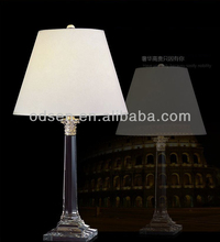 luxury k9 crystal table lamp with base switch