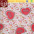Heart pattern print of 95% rayon 5% spandex jersey fabric for kids products and bed sheet