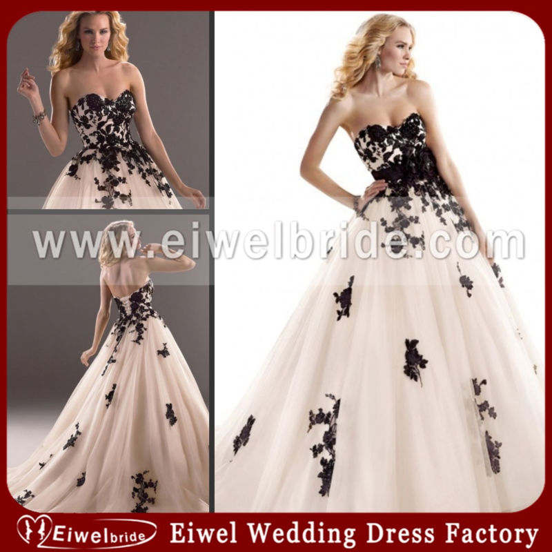 MT781 Elegant Princess Backless Pink And Black Wedding Dresses