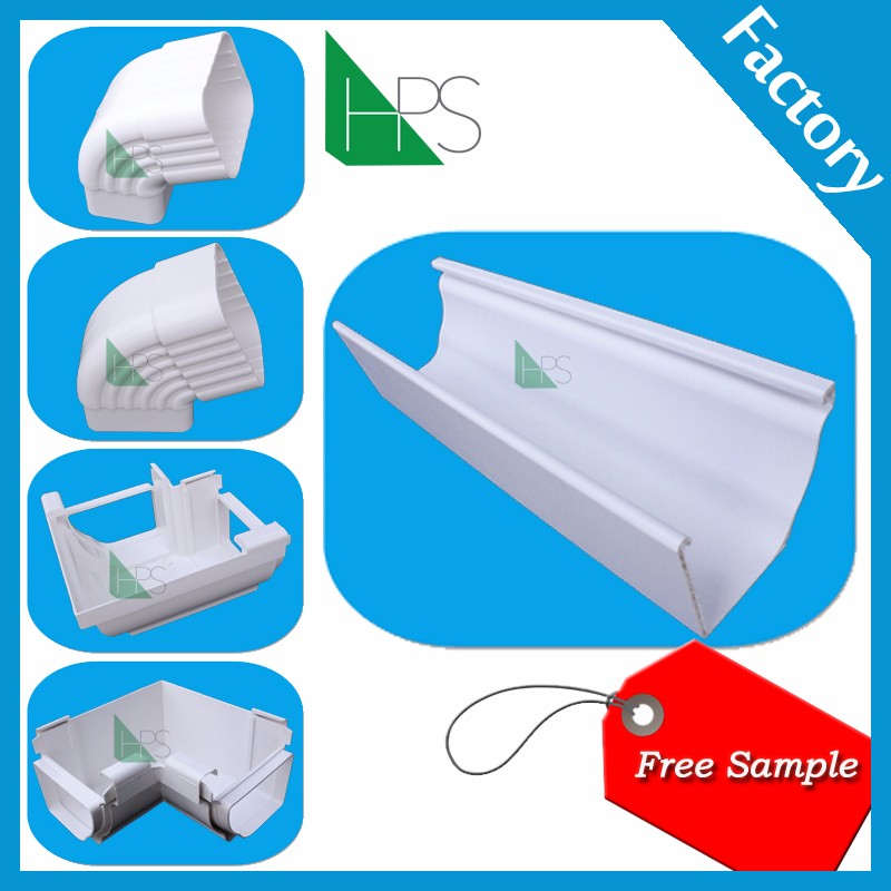 Half round pvc gutter Kenya hot sale rain gutter fittings