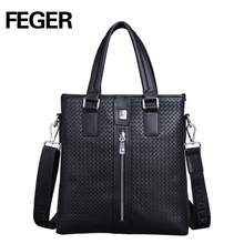 Trendy Male Leather Hand Bags Classical Designer Brand Handbags Custom