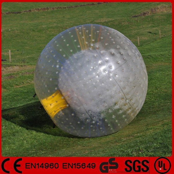 Grassland slope 2.5m transparent inflatable rolling zorb ball