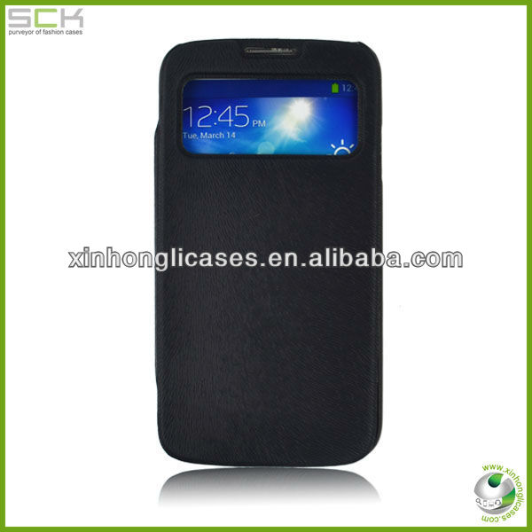 flip leather case cover with holder for samsung s4