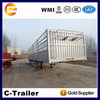 3 axle cargo carrier truck trailer, fence semi trailer, trailer for transport animal, food