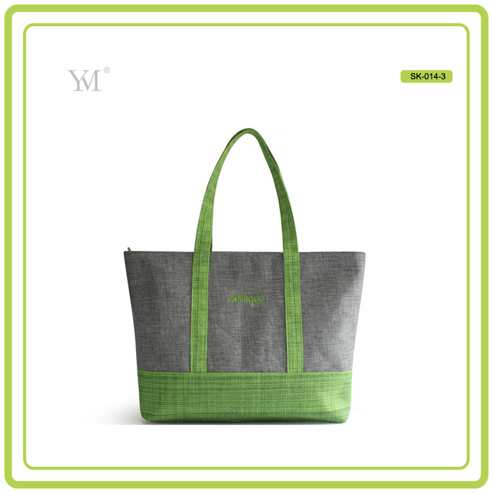 promotional linen polyester ladies tote bag