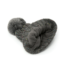 New Trendy unisex Crochet Wool Knit Warm Beanie Hat with Fur Balls