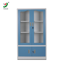 very cheap kitchen equipment furniture steel glass cabinet