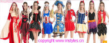 Instyles walson cheap carnival Red Cabin Crew Fancy Dress Virgin Air Hostess Ladies Fancy Dress Costume Outfit 2XL 3XL