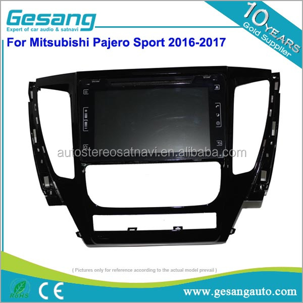 New Arrival! GPS navigation, full touch screen android car dvd player with 4g/wifi/sim card for Mitsubishi Pajero Sport 2017