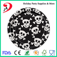Factory Direct Sale 10 inch Round Halloween Design Disposable Food Paper Plate/Trays Decoration