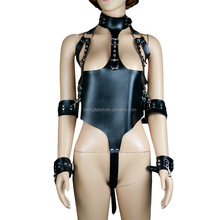 LS-041 Sexy Leather Lingerie Teddy Panties Bondage Body Harness Gay Boys