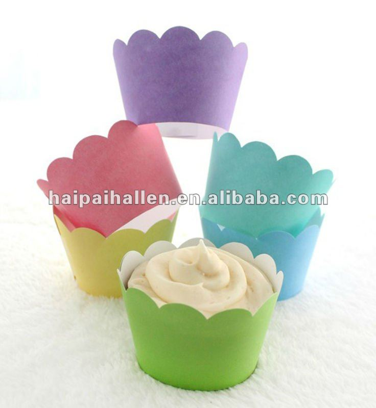customized printed Cupcake Wrappers with Scallop topped