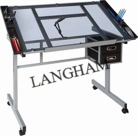Glass Drawing table for office and school Drawing desk for home Drafting Table