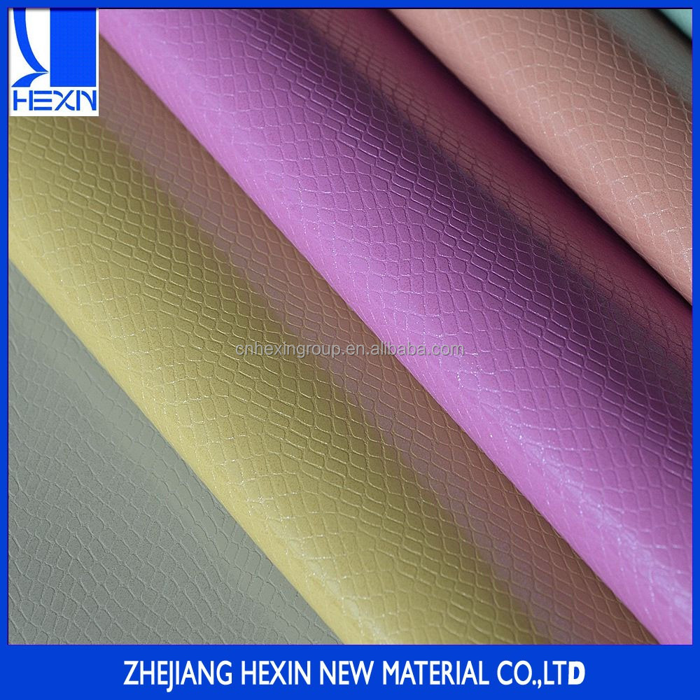 Special metallic under-glass effect pu paint synthetic leather for making bags or shoes,snake grain