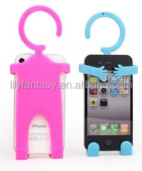 Man shape folding high quality silicone hand phone holder with factory price