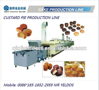 CE approved full automatic yolk pie/custard/muffin/cake production line