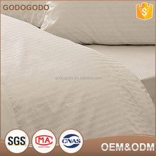 60S 40S 0.5Cm Satin Stripe Comforter Sets Super King Size Bedding Queen Size 100% Cotton
