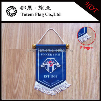 High quality relationship football/soccer custom pennant flags