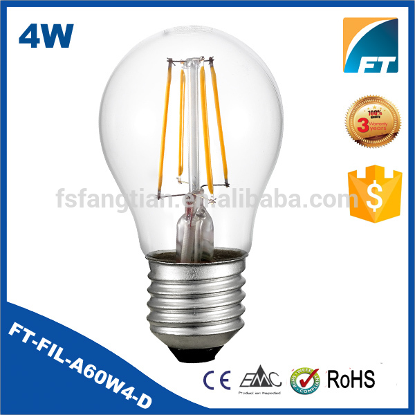 Factory Direct 4 watts e27 a60 led bulb filament