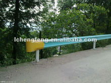 Steel highway guardrail bullnose end fishtail end