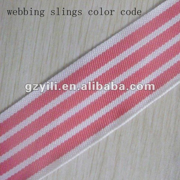 Fashion webbing slings color code