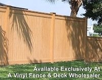 Realistic, Wood Grain Style, Tongue & Groove Privacy Fence