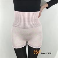 Women Dot Pink Waist Support Microfiber Short Shorts