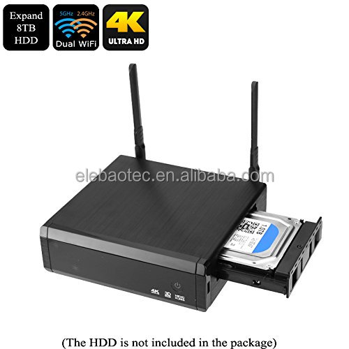 "2017 hottest quad core tv box R95Pro RTD1295 android 6 with 3.5"" sata hard disk media player for tv,lifetime free iptv"