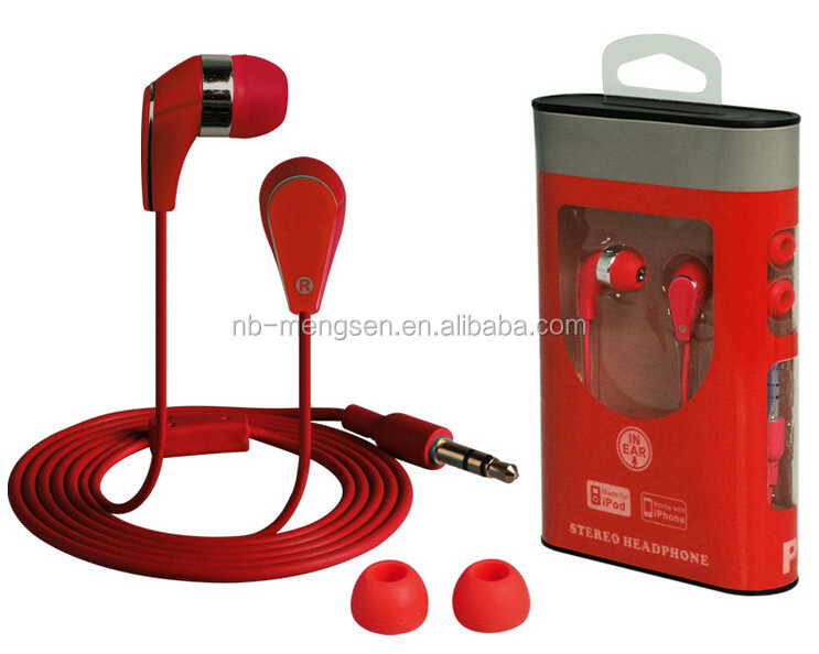 Original 3.5mm Jack Noise Isolation Headphone In-ear Style Earphone for Phone MP3/MP4 Players