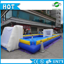 Summer fascinating good quality inflatable football game,inflatable football playground , inflatable football field