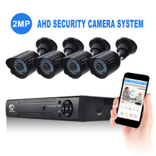 Wholesale Factory Price Day/Night Vision Waterproof 8CH 3.6mm1080p 4 x 2MP Outdoor Security Camera System Outdoor Set