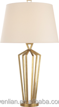 Decorative metal bedside table lamp for hotel