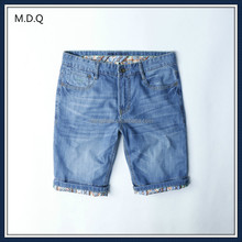 boys fashion slim thin jeans denim shorts half pants for men