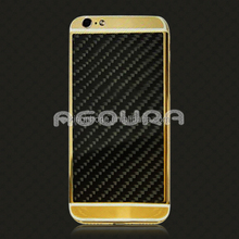 carbon fiber gold housing for iphone 6S,for iphone 6S replacement back cover