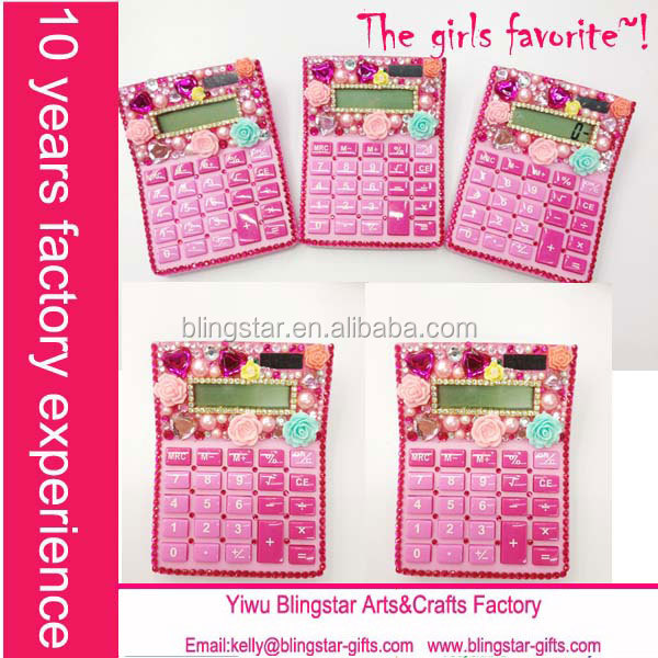 pink rhinestone calculator