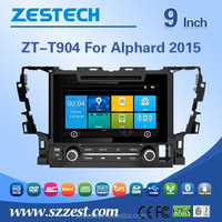 oem double din car dvd player for TOYOTA ALPHARD 2015 gps navigation box with CE EMC LVD FCC