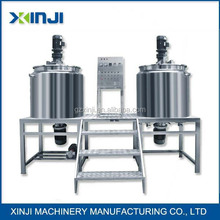 shampoo manufacturing process mixing filling capping labeling machine