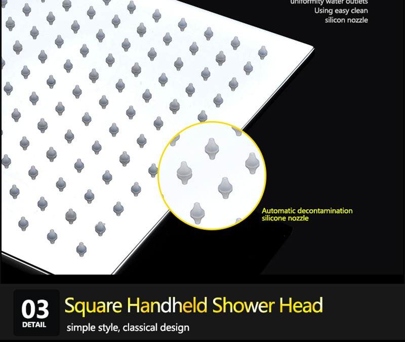 Top Brass LED shower head with hand shower and shower diverter