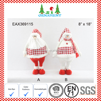 Red and white hot sell christmas standing ornament