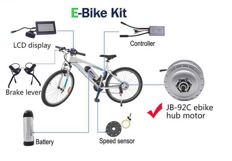 JB-92c 16 inch 250w normal electric bicycle rear hub motor kit