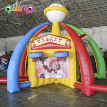 excellent quality Shooting ball game , inflatable basketball hoop for kids