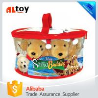 Santa Buddies Gift Set Plush Dog in PVC Bag Toy