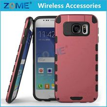 Protective Slim Fit Hybrid Double Layers PC + TPU Armor Mobile Phone Cases For Samsung Galaxy S6