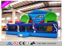 Hot Commercial Inflatable Bouncer With Big Slide For Sale