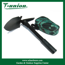 3 Size Entrenching Tool Emergency Tri-Folding Serrated Survival Shovel with Carrying Case Military Folding Shovel