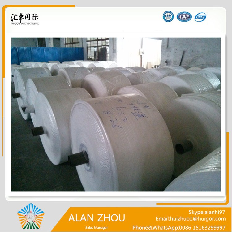 PP woven bag rolls for producing woven bags packaging flour, rice, sugar