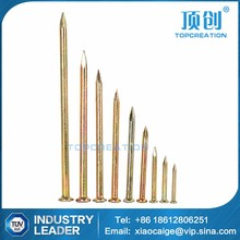 hot sale high strength yellow chromated concrete steel nail factory